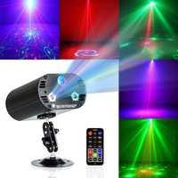3 lentes 36 patrones RGB estrellas de Navidad luz láser ducha fiesta láser proyector escenario Iluminación DJ fiesta discoteca espectáculo escenario Luz