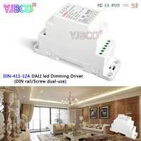 LTECH DIN-411-12A DALI a PWM CV atenuación de conductor (carril DIN/tornillo de doble uso); DC12-24V de entrada; 12A * 1CH de salida para la luz led