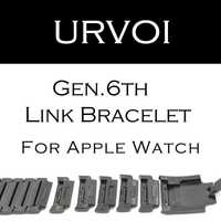Banda de pulsera de enlace URVOI para apple watch series 4 3 2 1 correa para iWatch banda de acero inoxidable de alta calidad ajustable gen.6