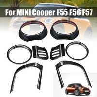 8 pièces tableau de bord évent couverture pour BMW pour MINI pour Cooper F55 F56 F57 Auto intérieur moulures en Fiber de carbone sortie d'air autocollants garnitures