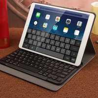 Funda de teclado Bluetooth para iPad Air, iPad Pro 10,5 pulgadas 2017 nuevos de cuero ratón inalámbrico teclado Bluetooth inteligente caso de la cubierta para Pro10.5