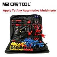 92 piezas de coche de prueba de circuito de sonda de Cable cableado Kit de accesorios MT08 SRS conector pinza de cocodrilo para multímetro MST9000 +