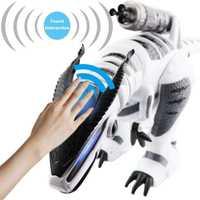 Juguetes RC Robot inteligente interactivo caminando cantando y bailando electrónicos educación juguetes de los niños blanco gris