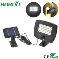 BORUiT 30 LEDs lámpara Solar PIR Sensor de movimiento lámpara de pared exterior Interior Solar pared Luz Jardín patio noche iluminación pared lámpara