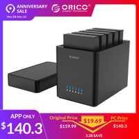 ORICO 5 Bay Magnétique-type 3.5 Pouces USB3.0 Hard Drive Enclosure Soutien 50 TB Max 5 Gbps UASP 12 V Adaptateur Outil Livraison fermoir hdd