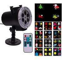 Thrisdar nunca se desvanecen 12 piezas diapositiva Navidad al aire libre proyector lámparas con remoto copos de nieve al aire libre jardín luz del proyector