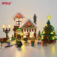 Juego de luces Led MTELE para creador de tienda de juguetes de pueblo de invierno Compatible con Lego 10249 bloque de construcción de luz de Navidad