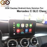 Sinairyu 2019 nuevo IOS coche Apple Airplay Android Auto CarPlay caja para Benz A, B, C, la CIA GLA GLC sobre las clase 15-17 NTG 5,0 sistema operativo