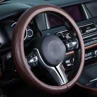 Cubierta del volante del coche cuero genuino auto accesorios para Volkswagen VW volante arriba Fox Beetle Bora gol Sedan polo