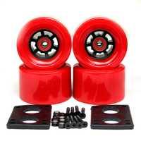 82A roulettes roues 83*52mm Long conseil ville course 87*52mm roues 6mm Riserpad 35mm boulons ABEC-9 portant de grandes roues Longboard