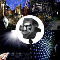 Huanjunshi LED Iluminación de escenario impermeable Navidad Halloween party copos Control remoto luz láser proyector