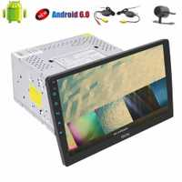 Cámara inalámbrica + Quad Core 6,0 ''Android 10,1 doble Din estéreo Audio headunit 2 din car radio no DVD reproductor soporte FM Bluetooth