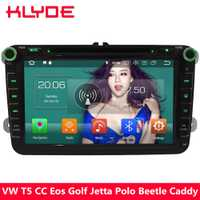 KLYDE 4G Octa Core Android 8,0 4 GB + 32 GB Radio reproductor de DVD para Volkswagen Beetle Magotan touran Eos Skoda Octavia Superb Fabia