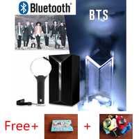 Original KPOP BTS ejército bomba álbum palo de luz oficial Ver.3 con Bluetooth conciertos brillo lámpara Lightstick libre BT21 cubierta de la tarjeta