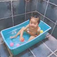 Bañera bebé bañera bebé engrosamiento niño grande bañera Cuenca del baño del recién nacido más tamaño bebé bañera plegable de plástico