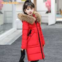 -30 degrés filles vêtements chaud doudoune pour fille vêtements 2019 hiver épaissir Parka vraie fourrure à capuche vêtements d'extérieur pour enfants manteaux