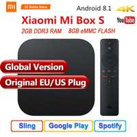 Original versión Global Xiaomi mi caja de S 4 Android 8,1 4 K QuadCore Smart TV Box 2 GB 8 GB HD mi 2,4G 5,8G WiFi BT4.2 Mali450 1000Mbp