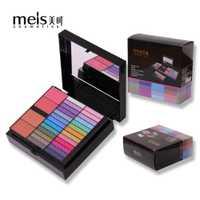 MEIS marca 80 colores sombra de ojos maquillaje conjunto cosméticos cepillo de maquillaje brillo de labios frente Shader Gel Kit del cepillo 8001 herramientas de