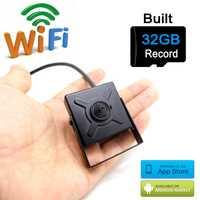 Cámara IP 720 p WiFi 32G tarjeta SD Micro Mini Wireless cctv seguridad más pequeña cámara HD vigilancia P2P Wi Fi camara jienu