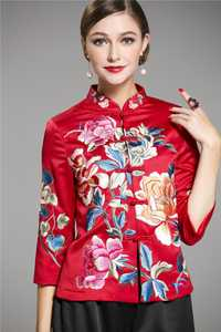 Chaqueta de Yokosua bordada vintage China 2019 para mujer