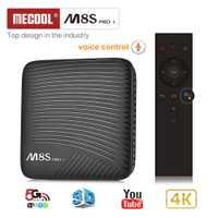 Mecool M8S PRO L caja de TV inteligente Android 7,1 Amlogic S912 3 GB RAM 32 GB ROM 5G Wifi BT4.1 TV Box Control remoto por voz Set-top Box
