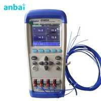 Multicanal termómetro termopar J/k/T/e/s/n/b TFT LCD pantalla táctil USB li-batería portátil de temperatura AT4204