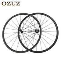 OZUZ 3 K mate o 3 K brillante bicicleta 24mm Perfil de profundidad Clincher carretera bicicleta ruedas de carbono Powerway r13 cubo del cojinete de cerámica