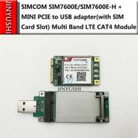 JINYUSHI para SIMCOM SIM7600E/SIM7600E-H + MINI PCIE A Adaptador USB con ranura para tarjeta SIM módulo LTE de banda múltiple CAT4 módulo