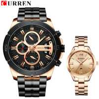 Marca de lujo reloj de los hombres relojes mujer parejas amantes relojes impermeable relojes de pulsera CURREN Relogio femenino