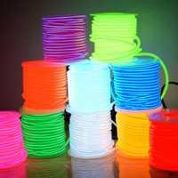 EL Cable 2,3mm 10 colores 50 m 200 m 100 m Cable de tubo de cuerda DIY tira de luz Led Flexible neón resplandor fiesta decoración baile eventos Deco