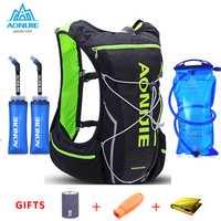 2018 AONIJIE Pro de las mujeres de los hombres 10L al aire libre bolsas mochila de senderismo chaleco maratón mochila ciclismo opcionales botella de agua de botella bolsa