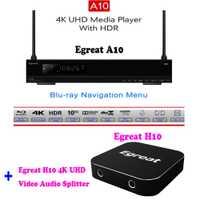 Egreat A10 4 K Blu-ray reproductor de disco duro ISO reproducción menú de navegación Android TV caja Egreat H10 4 K Ultra HD Video divisor de Audio