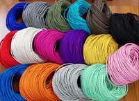3 núcleos diferentes colores trenzados cable de tela textil 3*0,75mm tela recubierto cable de silicona DIY lámpara colgante vintage tela de alambre
