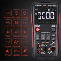 RICHMETERS RM409B multímetro Digital, 9999 cuentas de verdadero valor eficaz (RMS gráfico Sensor de temperatura AC/tensión DC amperímetro Ohm capacitancia de