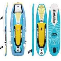 Aqua marina evolución inflable profesional 2-en-1 ISUP y kayak Paddle Junta inflable paddle Board tabla de surf