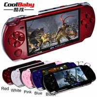 Consola de juegos portátil de 4,3 pulgadas pantalla mp4 jugador MP5 juego jugador real 8 GB apoyo para psp juego cámara video e-book