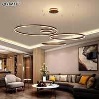 Pendentif LED moderne lumières pour salon salle à manger Luminaire à Suspension réglable Suspendu anneaux circulaires café lampe à main Luminaria