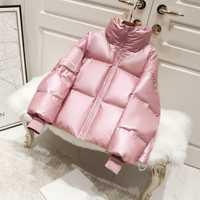 2019 chaqueta de invierno de Parka brillante para mujer, chaqueta de plumón gruesa de tallas grandes, abrigo de plumón de pato blanco suelto, ropa de abrigo impermeable