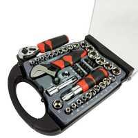 DZT coche herramienta de reparación de 45 pc Socket coche herramienta de reparación de trinquete llave de torsión Combo Kit de herramientas de reparación de herramienta conjunto