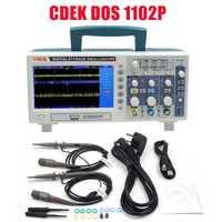 Venta caliente CDEK DSO1102P osciloscopio Digital portátil de 100 MHz 2 canales 1GSa/s longitud de registro 40 K USB LCD de osciloscopios