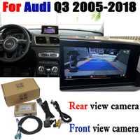 La cámara de reversa interfaz adaptador de conexión Original Monitor de pantalla para Audi Q3 2005-2018 MMI decodificador CCD noche Fr trasera cámara de vista