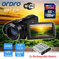 ORDRO Z20 24MP HD 1080 P HD cámara de vídeo Digital DV videocámara 3