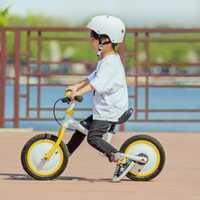 Original Xiaomi MiJia QiCycle triciclo, bicicleta de Scooter 12 pulgadas para los niños amarillo diapositiva en Color y bicicleta de doble uso