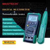 MASTECH MS8236 Auto de la gama multímetro Digital red LAN Cable Tester Tracker tono no tensión de contacto detectar