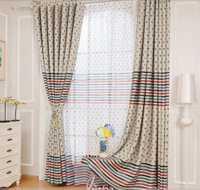 Liquidación onda diente de león medio sombreado cortina de tela de cortina terminado balcón cortina de ventana dormitorio fabricado altura 2.7 metros