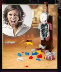 Nuevo juguete divertido novedad mordaza juguetes truco broma regalo para los niños ensamblado juguete juegos divertidos terroristas modelo del cuerpo humano 3D rompecabezas
