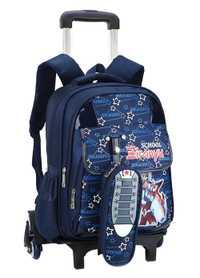 Niños Trolley mochila estudiantes rodillo de dibujos animados niños mochila viaje rodar bolsa niños niñas bolsa con 2/6 ruedas mochila
