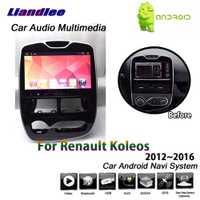 Liandlee Android para Renault Koleos/Samsung 2012 ~ 2016 estéreo BT TV Carplay enlace espejo Wifi mapa GPS Navi de navegación Multimedia