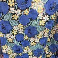 GLace 1Y/Lot Flor de cifrado bordado de algodón línea de patchwork de tela de malla para mujeres vestido de boda accesorios TX1113