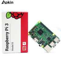 Aokin Farnell Element 14/RS Raspberry Pi 3 modelo B, modelo B +/modelo B, Placa base con WiFi y Bluetooth Raspberry pi Placa de ordenador